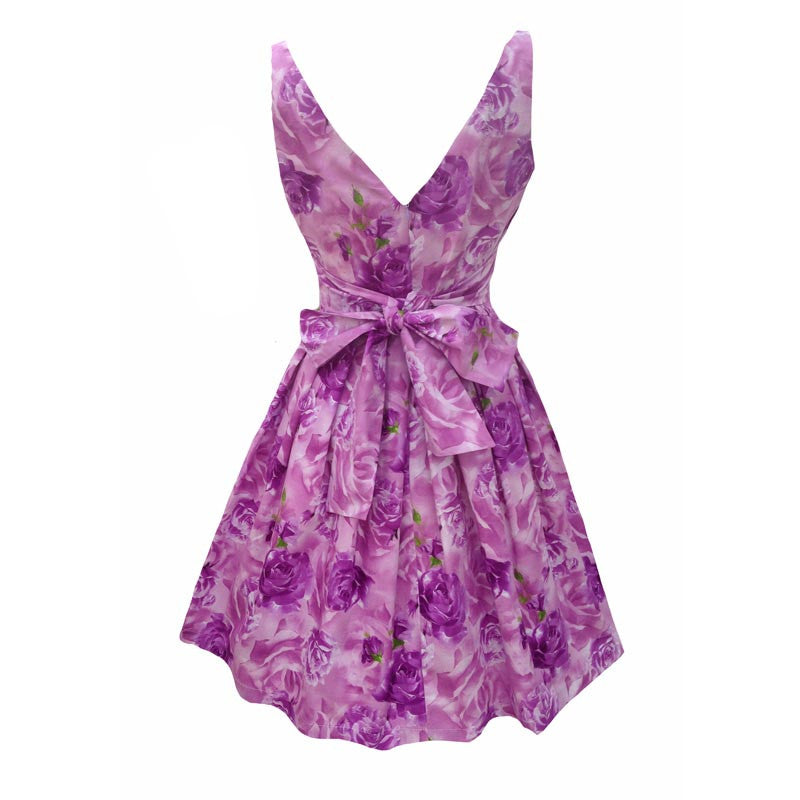 Reproduction 1950s lilac roses dress 10/12