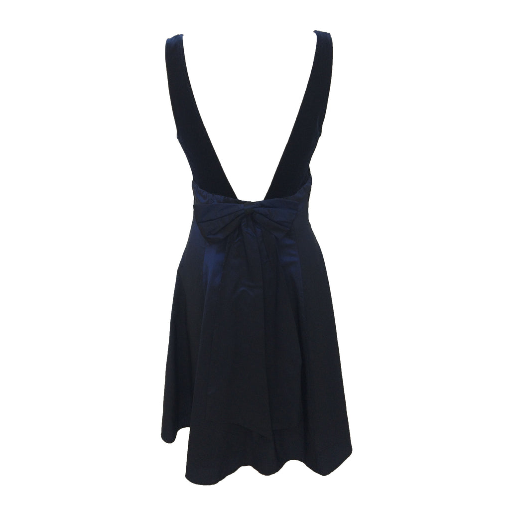 1980s velvet and taffeta party dress