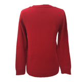 Red acrylic knit vintage festive jumper