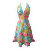1970s halter neck vintage dress