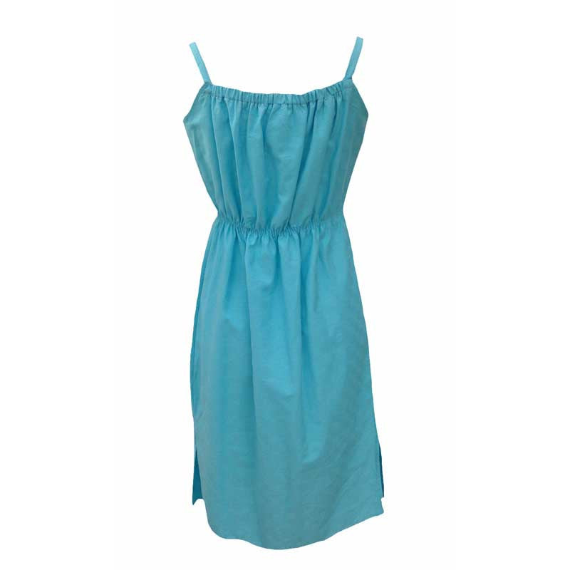 1980s turquoise home sewn sundress