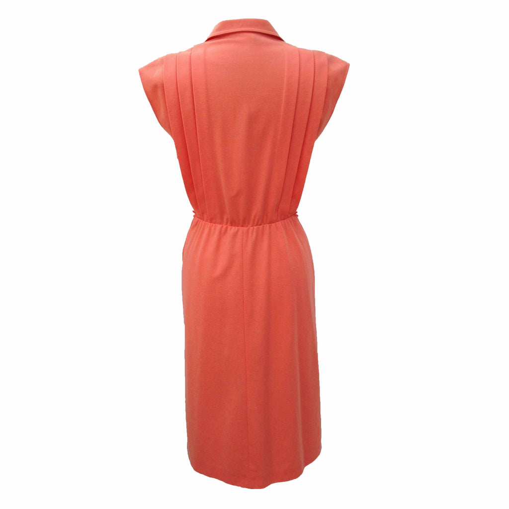 1970s coral vintage dress by Diolen