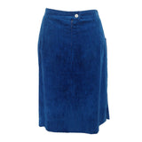 1980s royal blue needlecord vintage skirt