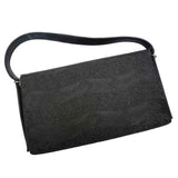 Black vintage 1950s spacious handbag