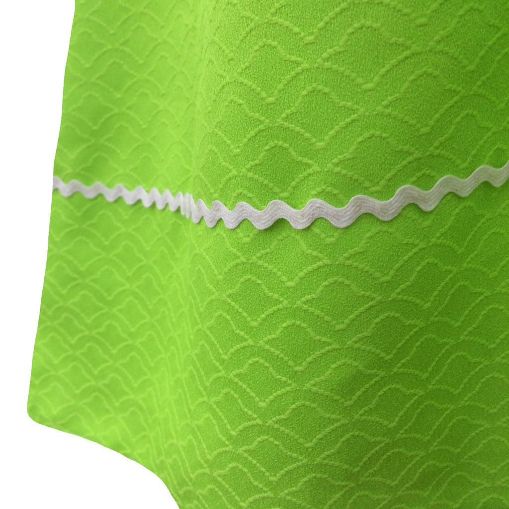 1960s lime green vintage dress