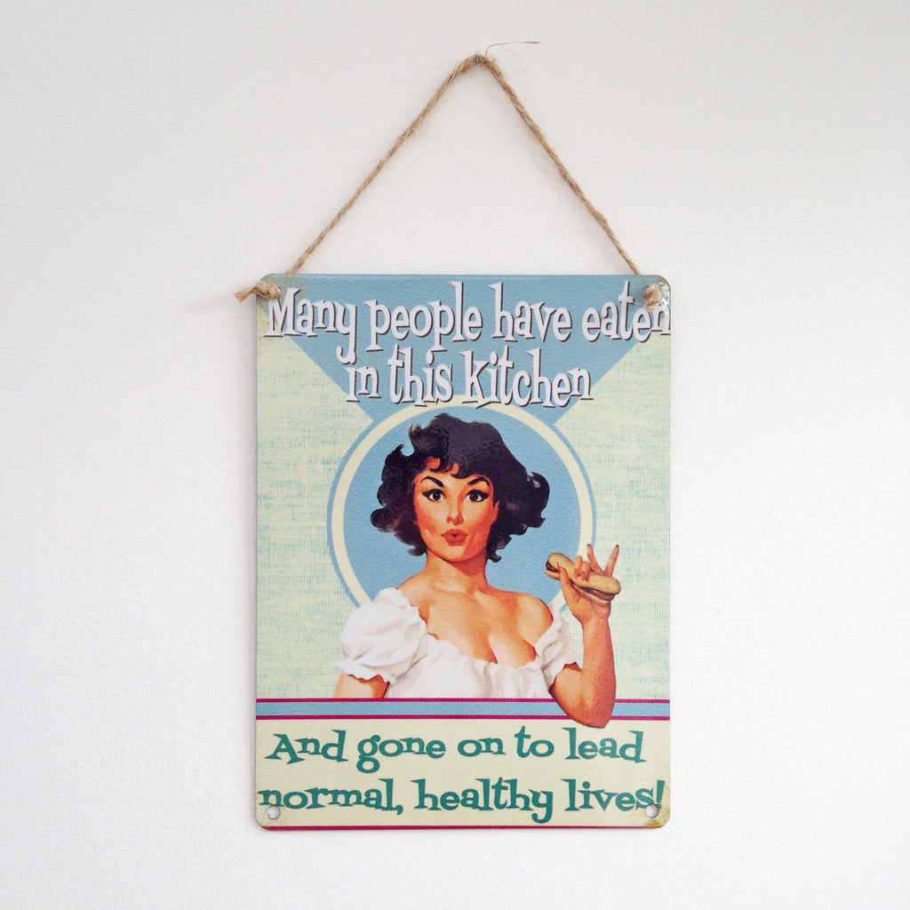 Many People vintage style metal sign