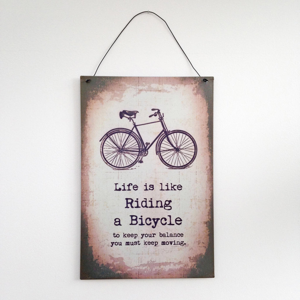 Life is Like.. vintage style metal wall plaque