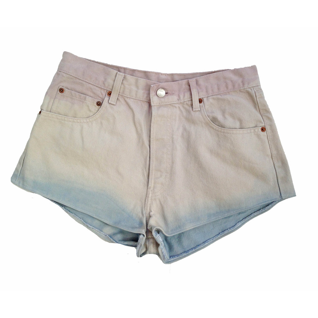 Levi 401 dip dyed cut off shorts