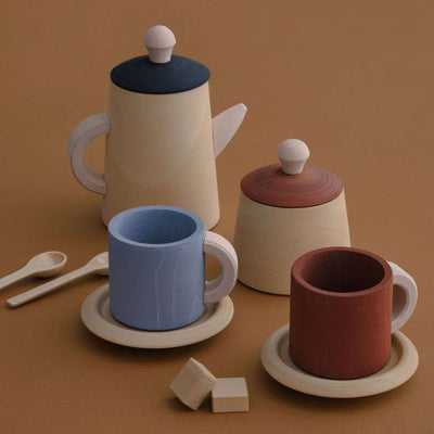 Raduga Grez Tea Set - Terracotta and Blue