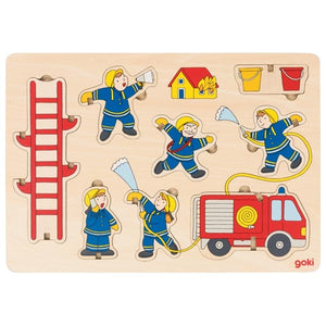 Goki Stand Up Fire Department Puzzle