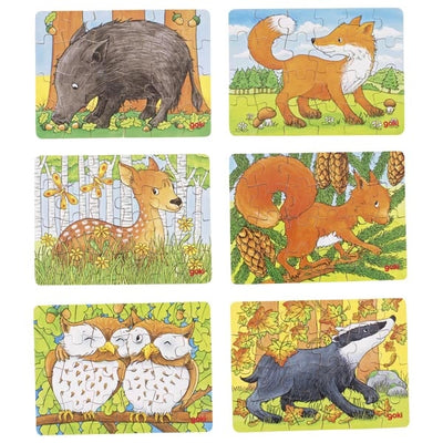 Goki Mini Forest Animal Puzzles