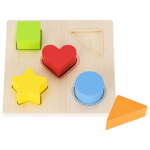 Goki Colour & Shape Sorting Board - 5 shapes