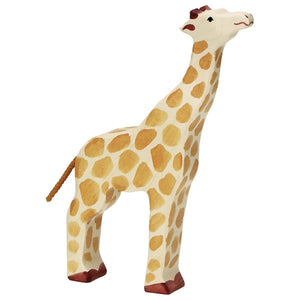 Holztiger Giraffe, head raised
