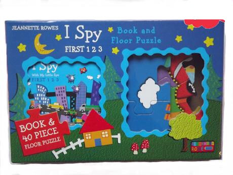 I Spy Floor Puzzle and Book: First 123