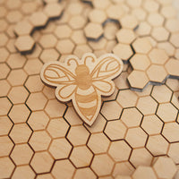 Honeycomb Brain Teaser - Natural, 48 elements
