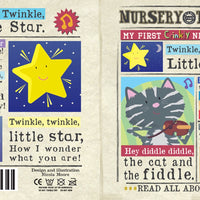 Nursery Times Crinkly Newspaper - Hey, diddle diddle
