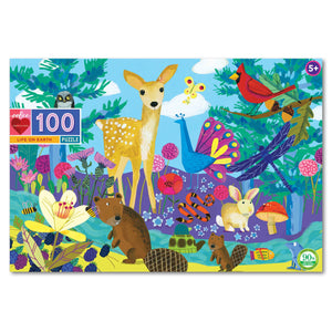 eeBoo Life on Earth - 100 piece puzzle