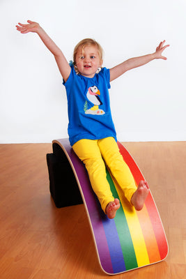 KateHaa Balance Board - Large - Rainbow