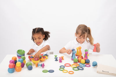 Rainbow Wooden Loose Parts