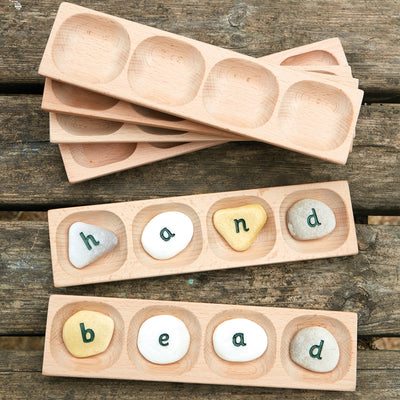 Word Building Tray - 4 pebbles
