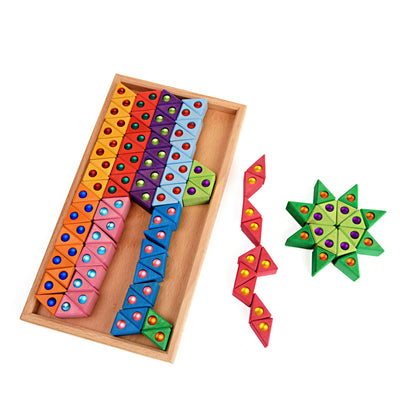 Bauspiel Jewelled Triangles - 100 pieces