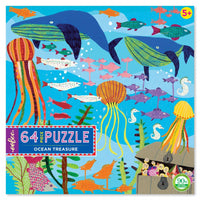 eeBoo Ocean Treasure - 64 piece puzzle