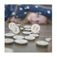 Wooden Numbers Play Set - 1 to 20 plus maths signs
