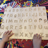 A-Z Wooden Tracing Board