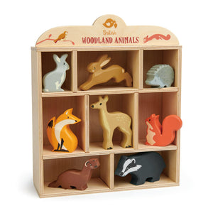 TenderLeaf Woodland Animal Set and Display Shelf