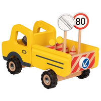 Goki Construction Vehicle with Road Signs