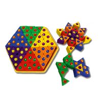 Bauspiel Large Jewelled Coloured Triangles - 54 pieces