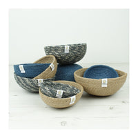 ReSpiin Jute Mini Bowl Set - Denim