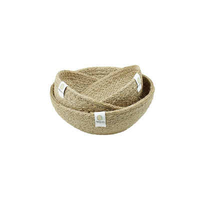 ReSpiin Jute Mini Bowl Set - Natural