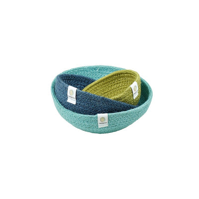 ReSpiin Jute Mini Bowl Set - Ocean