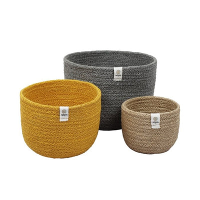 ReSpiin Tall Jute Bowl Set - Beach