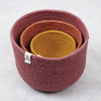 ReSpiin Tall Jute Bowl Set - Fire
