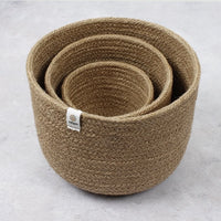 ReSpiin Tall Jute Bowl Set - Natural