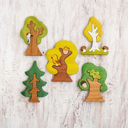Wooden Caterpillar Tree Set