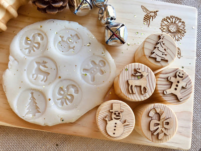 Christmas Playdough Stamps