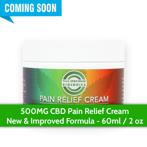CBD Pain Relief Cream 500MG - Improved Formula!