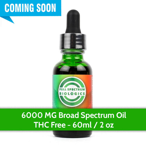 CBD Oil 6000mg - Broad Spectrum