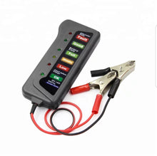 Load image into Gallery viewer, Portable Auto Battery and Alternator Tester 12V LED