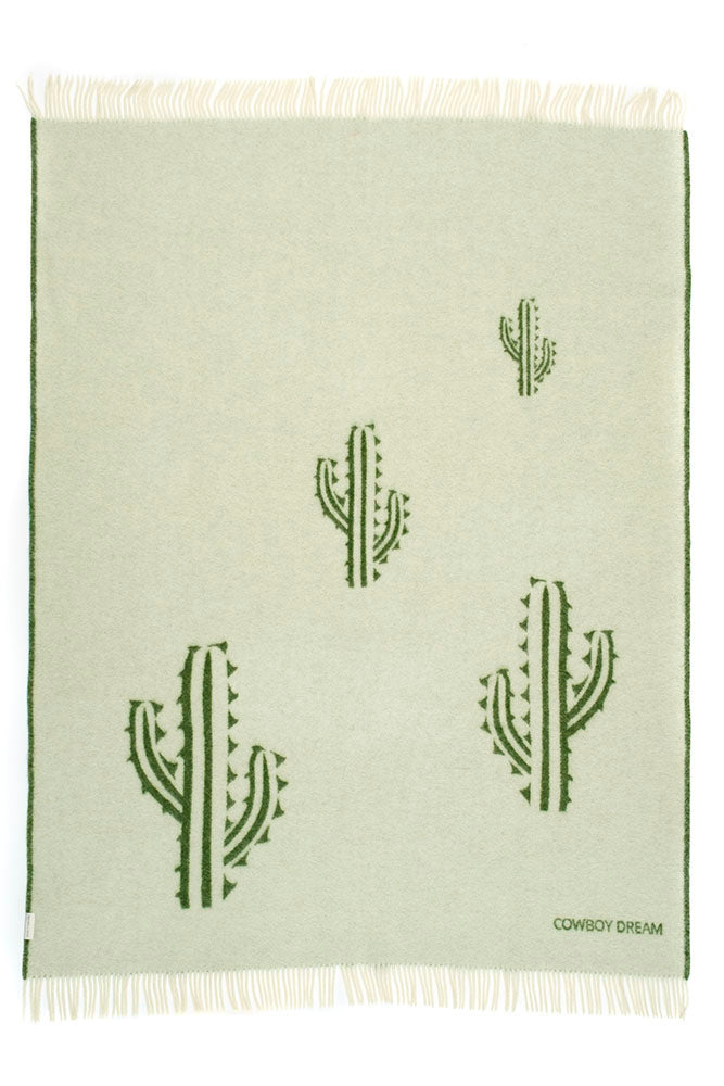 COWBOY DREAM collection blanket cactus green/off white