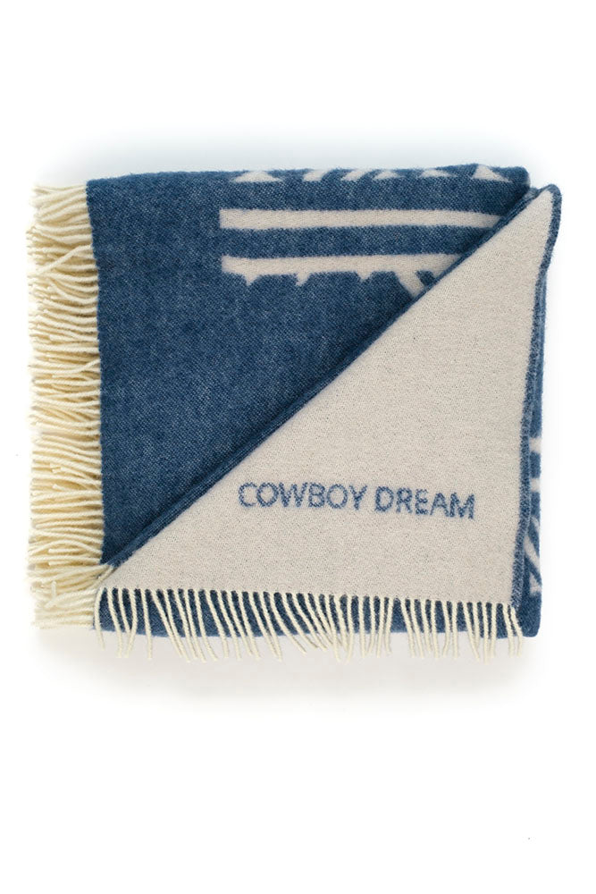 COWBOY DREAM collection blanket sand/aqua blue