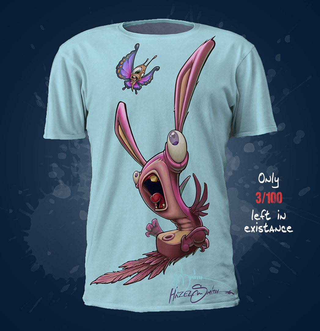 Endangered Bunny Bird: The Butterfly Eater Tee