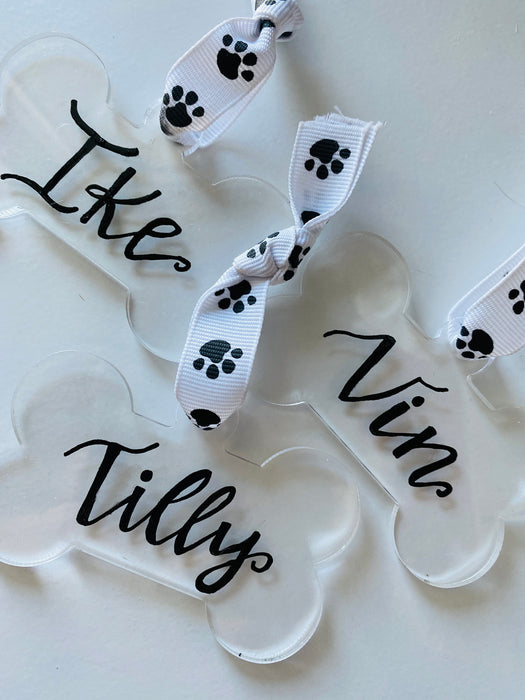 Dog Bone Acrylic Ornaments