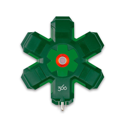 Pro 5-Outlet Power Hub, Green