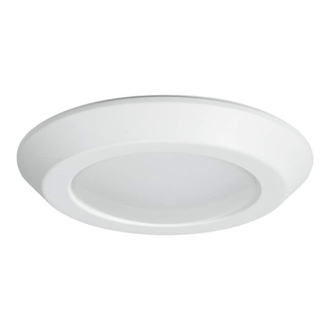 Halo BLD6089SWHR BLD 6 in. White Integrated Recessed Ceiling Light Trim at Selectable CCT (2700K-5000K), Title 20 Compliant LED Direct Mount, 6""