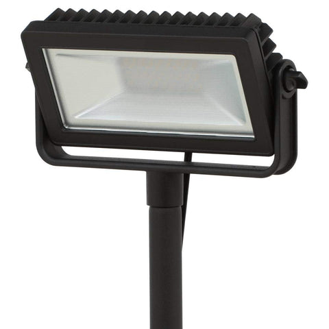 HB-101 Hampton Bay Low Voltage Black Outdoor Integrated LED Landscape Flood Light with 3 Levels of Intensity