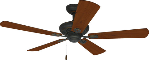 Ellington Uptown 52-inch Antique Verde with Gold Finish Ceiling Fan with Reversible Cherry/Walnut Blade
